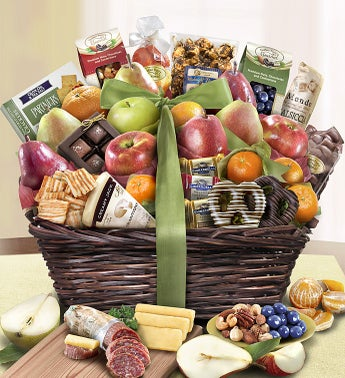 Distinctive Fruit  Sweets Gift Basket Deluxe