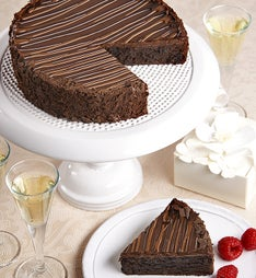Bake Me A Wish Triple Chocolate Brownie Cake