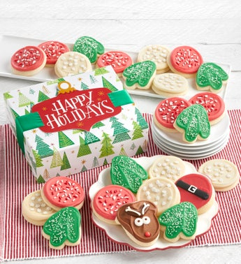 Cheryls Happy Holidays Cut-Out Cookie Gift Box