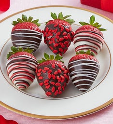 Cupids Chocolate Covered Strawberries 6 ct