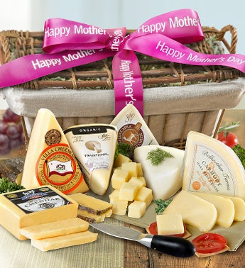 Happy Mothers Day Premium Cheeses Gift Basket