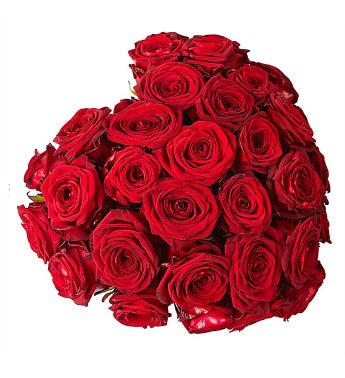 Heart-Shaped Red Rose Arrangement