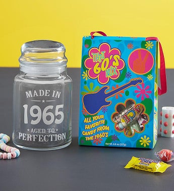 Personalized Decades Candy Jar  Candy