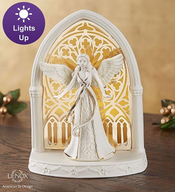 Lenox  Illuminated Lit Angel Scene