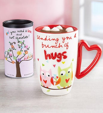 Sandra Magsamen Bunch of Hugs Mug  Cocoa
