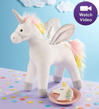 Gund Light Up Unicorn Plush with Cookie