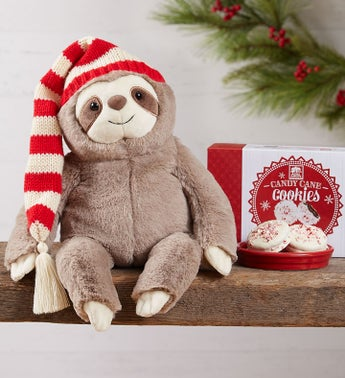Gund Christmas Sloth and Cookies