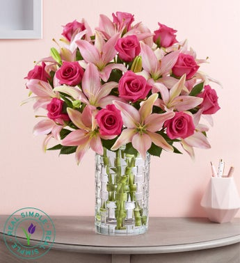 Pink Rose  Lily Bouquet by Real Simple