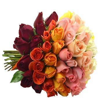 Ombre Bouquet - Red