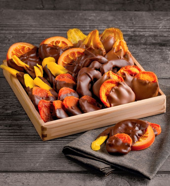 Chocolate-Dipped Dried Fruit