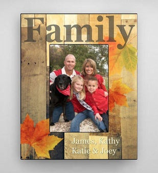 Personalized Fall Family Picture Frame