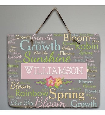 Personalized Spring Words Slate