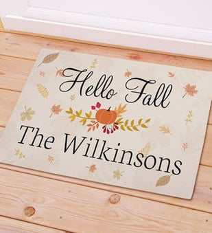 Personalized Hello Fall Doormat