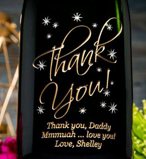 Thank You In The Stars Personalized Wine Bottle