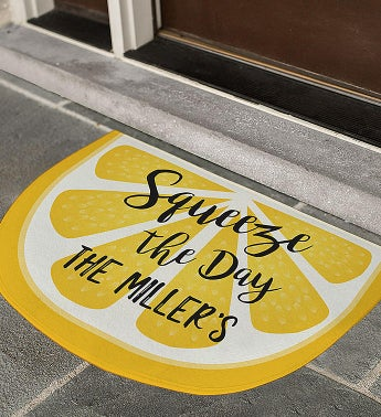 Personalized Squeeze the Day Lemon Doormat