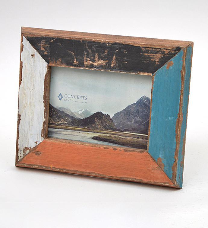 Rustic Colorblock Frame