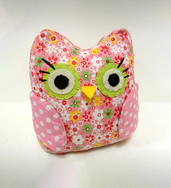 Wise Owl Fabric Bookend