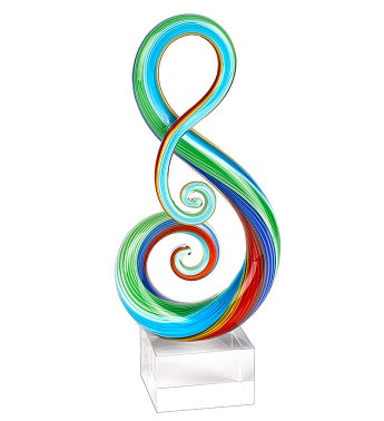 Rainbow Note Centerpiece