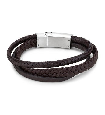 Triple Braid Leather Bracelet