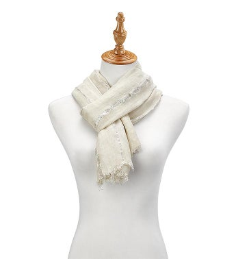 Metallic Strip Scarf