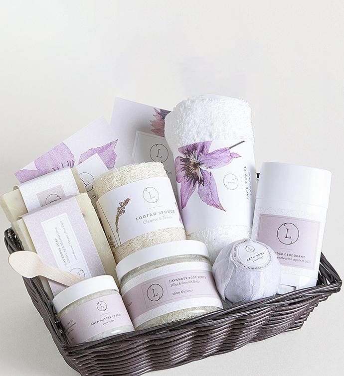 Lavender Gift Basket & Retirement Gift Ideas | Retirement Gifts for Women u0026 Men | Goodsey