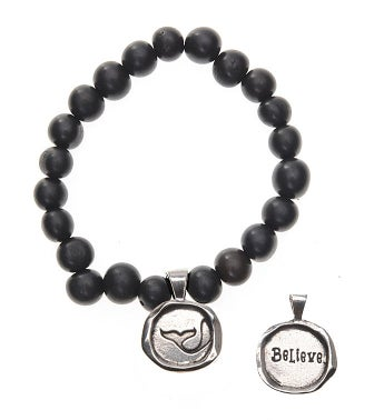 Seeds Of Life Wax Seal Bracelet - Believe