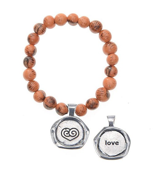 Seeds Of Life Wax Seal Bracelet - Love