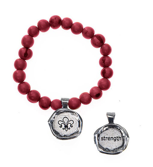 Seeds Of Life Wax Seal Bracelet - Strength