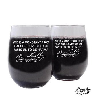 Famous Wine Sayings Etched Wine Glasses