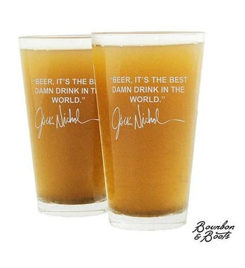 Famous Beer Quote Pint Glasses (2)