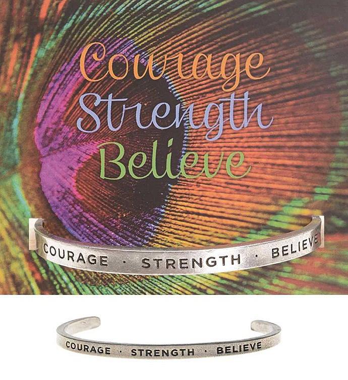 CourageStrengthBelieve Quotable Cuff Bracelet