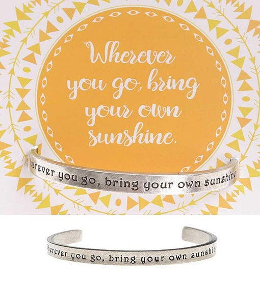 Wherever You Go Quotable Cuff Bracelet