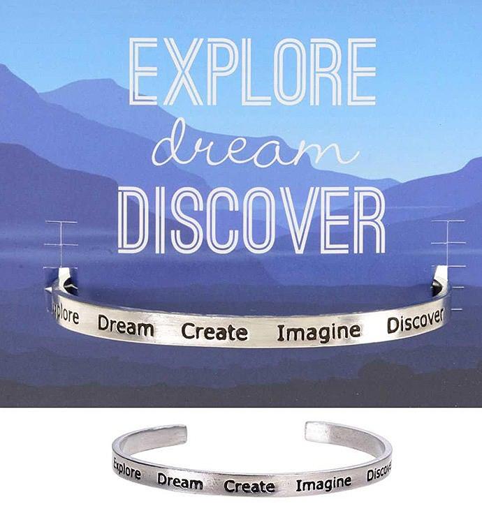 ExploreDreamCreate Quotable Cuff Bracelet