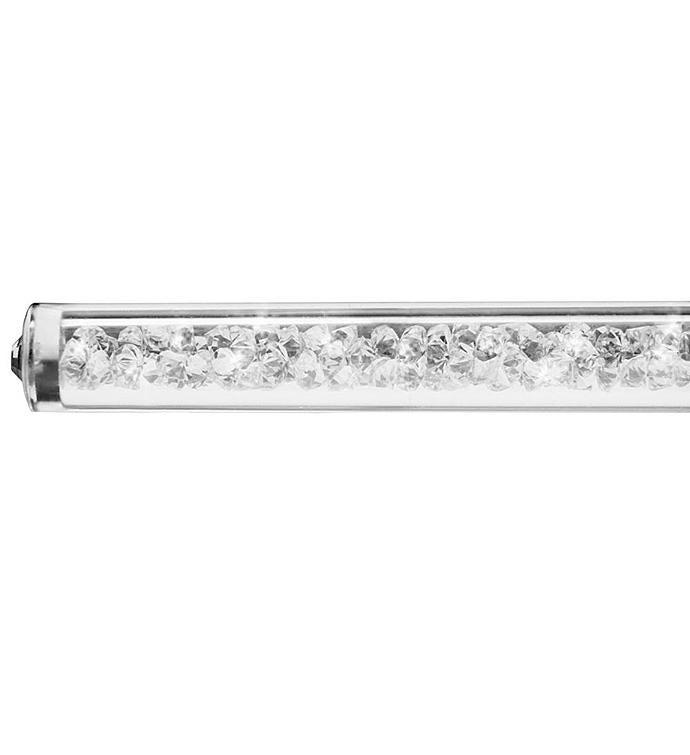 Ballpoint Pen with Miniature Crystalline Top