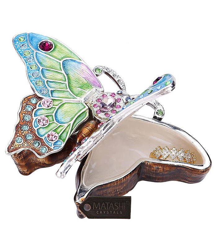 Trinket Box  Hand Painted Butterfly