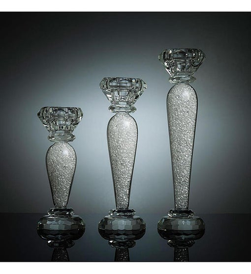 3 Piece Crystal Candlestick Set - 6