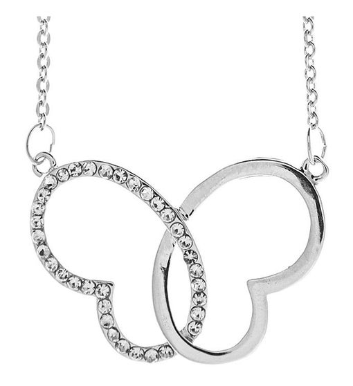 Intertwined Hearts Design Necklace