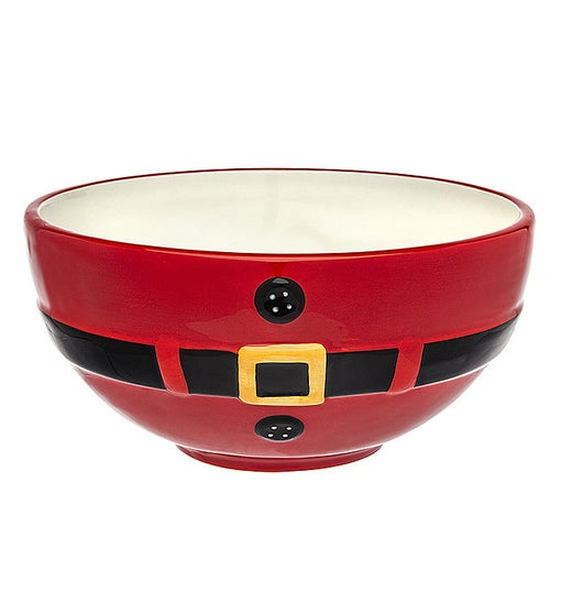 Santa Belt Serving Bowl