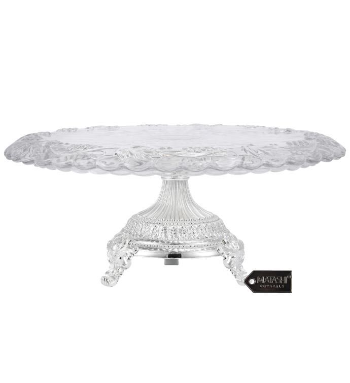 Etched Cake Plate Centerpiece