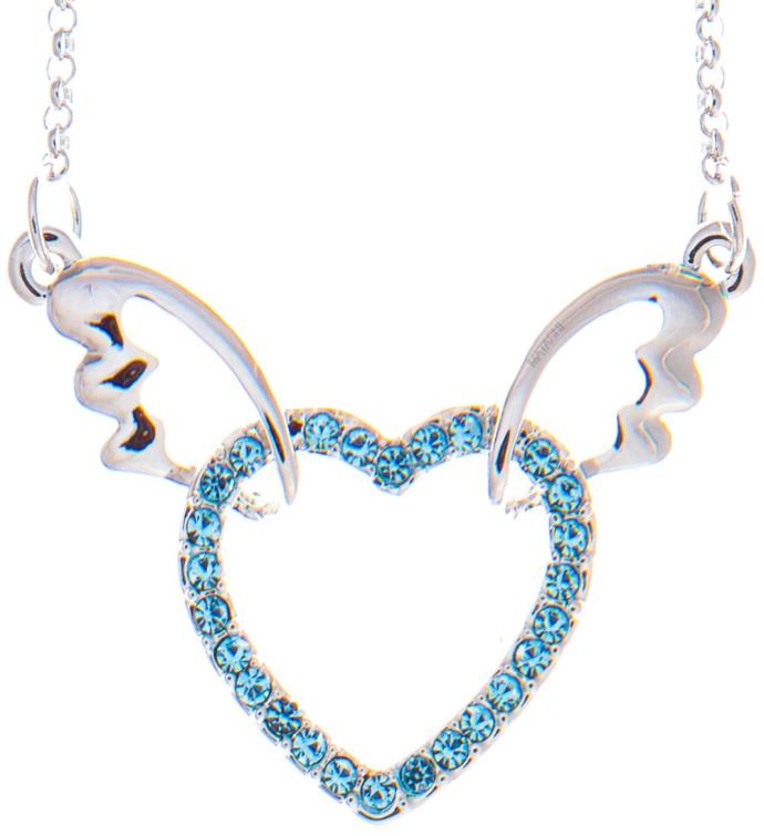 Necklace with Winged Heart Design