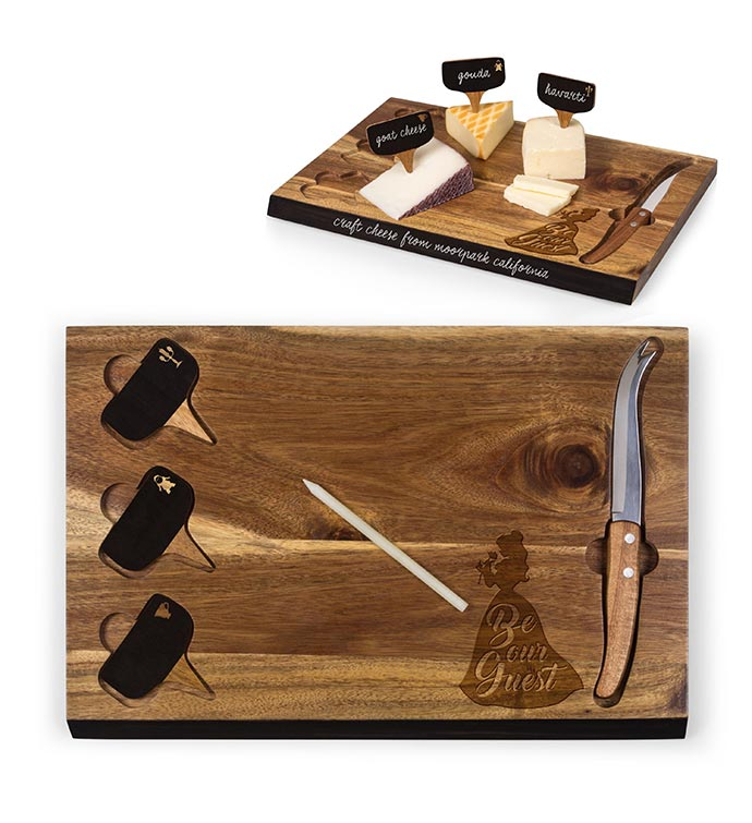 Delio Acacia Cheese Board  Tools Set