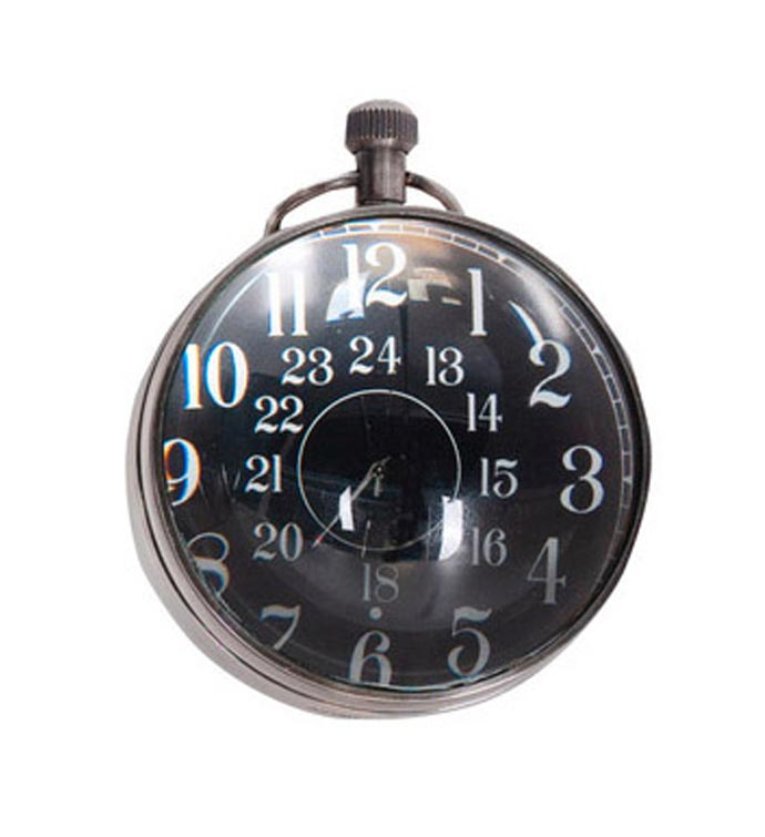 Eye Of Time Clock Silver finish