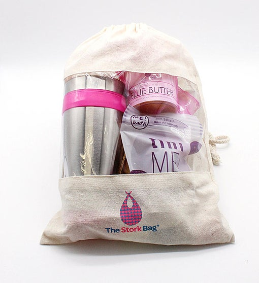 1st Trimester Stork Bag- Size Small Shirt