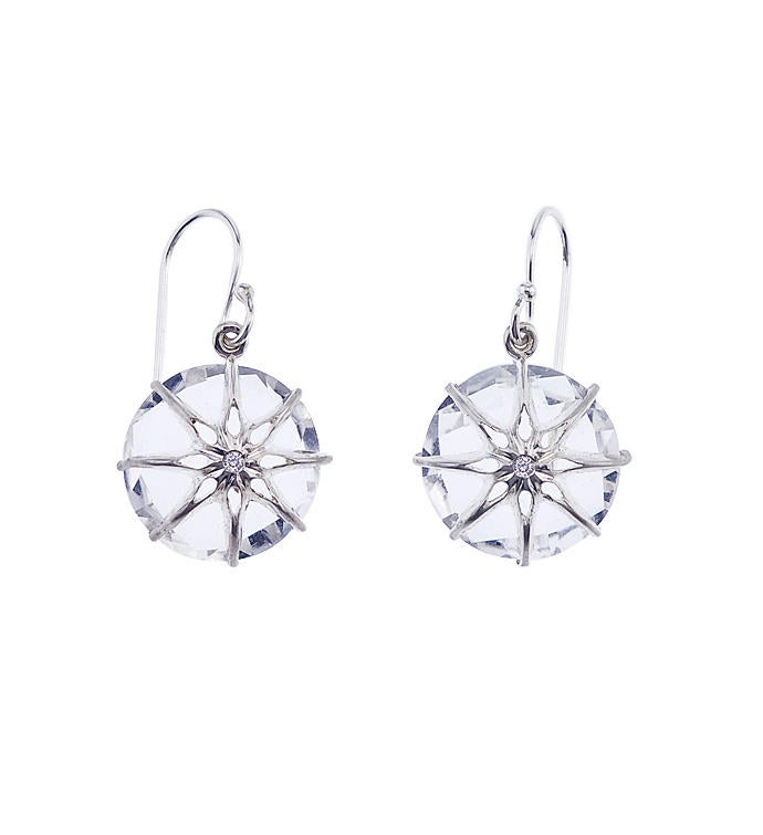 Shining Star Crystal Quartz Earrings