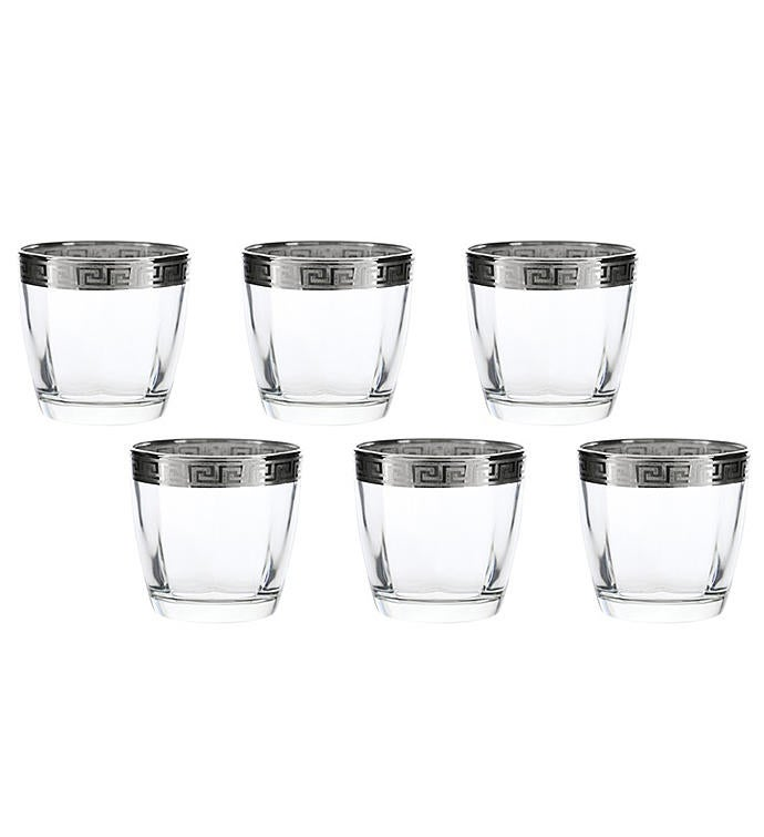 6-PC Double Old Fashion-Silver