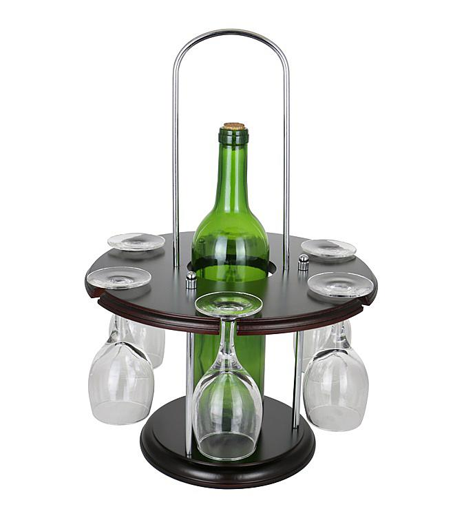 Round Wine Bottle  Glass Holder