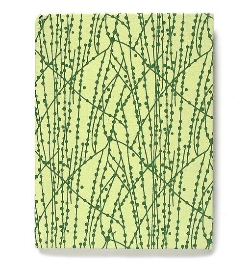 Recycled Cotton Journal in Green Dot Line-6