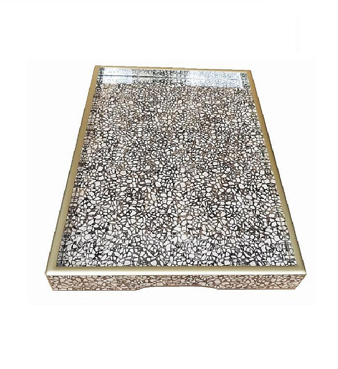 Handmade Reverse Painted Mirror Tray In Terrazzo Medium Goodsey Com Mk000980