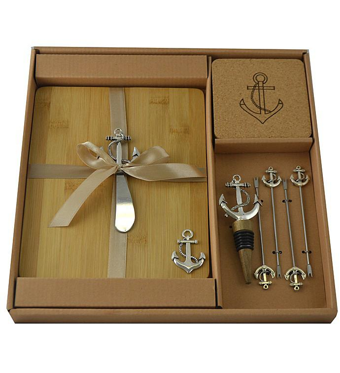 Wine  Cheese Set Silver Anchor