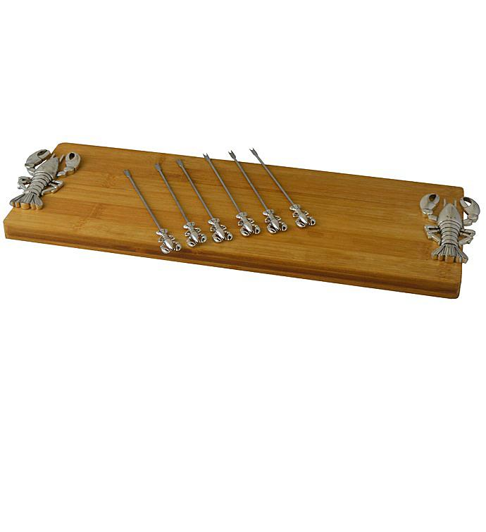 Cheese Board With 6 Picks Silver Lobster